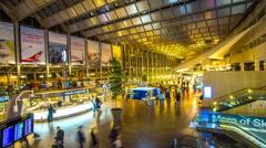 Arlanda airport, Stockholm, Sweden Stock Footage