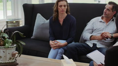 Couples counseling therapy - stock footage