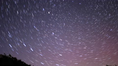 Rotating Star Trails and Northern Light Time Lapse 4k Stock Footage