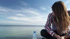 Man outdoor concerned and stressed 4K Stock Footage