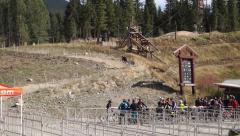 4 wheel mountain bike Stock Footage