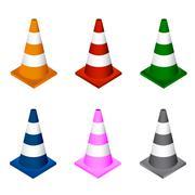Vector illustration of traffic cone - stock illustration