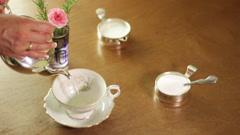 Making tea, close up. Stock Footage