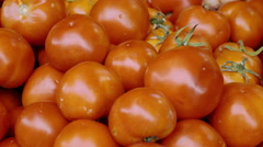 4k Groceries,red plump tomatoes close up Stock Footage
