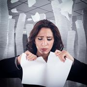 Tear a worksheet - stock photo