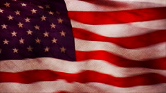 An animated U.S. flag flies in the wind in stop motion. Stock Footage
