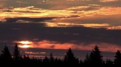 Time lapse of sunrise Stock Footage