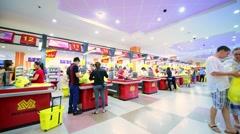 Maximark Supermarket interior Stock Footage