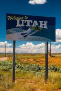Utah road sign - stock photo