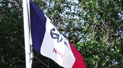 State flag of Iowa. Stock Footage