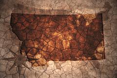 Vintage Montana state map Stock Illustration