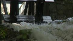 Water wheel moves, Rhine falls or Rheinfall Stock Footage