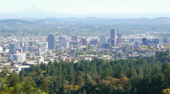 Portland Oregon Downtown Stock Footage