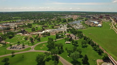 Aerial South Dakota Sioux Falls Stock Footage