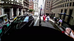 Fish eye effect of Wall Street, Manhattan, New York City Stock Footage