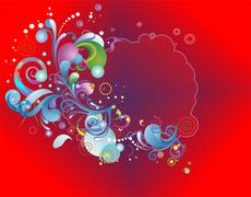 Background with colorful elements - stock illustration