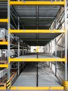 shelving gravity for pallets - stock photo