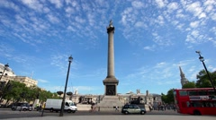 Trafalgar Square, London's major attraction, video. Stock Footage