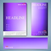 Modern set of brochure , flyer, booklet, cover or annual report in A4 size for Stock Illustration