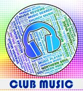 Club Music Shows Sound Track And Acoustic - stock illustration