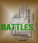 Battles Word Means Military Action And Affray Piirros