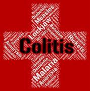 Colitis Word Represents Inflammatory Bowel Disease And Ailments Stock Illustration