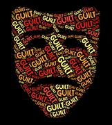 Guilt Word Shows Feels Guilty And Conscience Stock Illustration