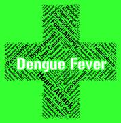 Dengue Fever Shows High Temperature And Attack - stock illustration