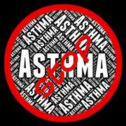 Stop Asthma Represents Warning Sign And Asthmatic Piirros