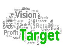 Target Word Shows Desired Result And Aims Stock Illustration