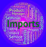Stock Illustration of Imports Word Means Buy Abroad And Business