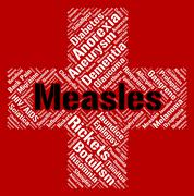 Measles Word Means Koplik's Spots And Ailment Stock Illustration