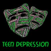 Teen Depression Shows Lost Hope And Adolescent Stock Illustration