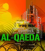 Stock Illustration of Al-Qaeda Word Represents Freedom Fighters And Anarchist