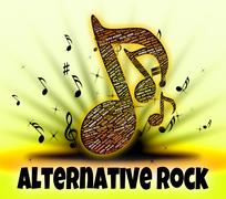 Alternative Rock Represents Sound Tracks And Alternates - stock illustration