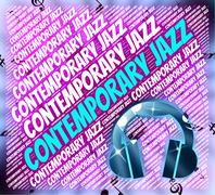 Contemporary Jazz Indicates Up To Date And Current - stock illustration