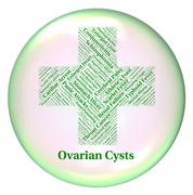Ovarian Cysts Indicates Poor Health And Affliction Stock Illustration