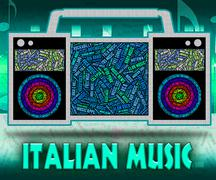 Italian Music Shows Sound Track And Acoustic - stock illustration