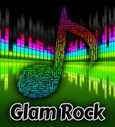 Glam Rock Indicates Sound Track And Harmonies - stock illustration