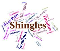 Shingles Word Means Viral Disease And Affliction - stock illustration