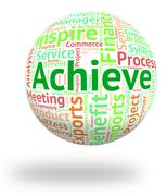 Stock Illustration of Achieve Word Shows Wordcloud Improvement And Achievement