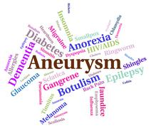 Aneurysm Illness Means Poor Health And Affliction Stock Illustration