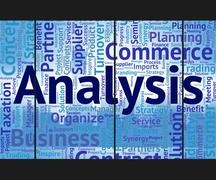 Analysis Word Represents Analyzing Investigation And Wordcloud - stock illustration
