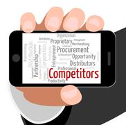 Competitors Word Means Text Words And Competition - stock illustration