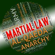Martial Law Shows Military Action And Defence Stock Illustration
