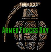 Armed Forces Day Represents Fighting Machine And Armament Stock Illustration