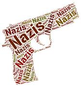 Nazis Word Means National Socialism And Hitlerism - stock illustration