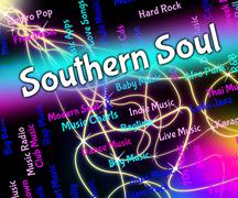 Southern Soul Shows American Gospel Music And Blues - stock illustration