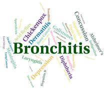 Stock Illustration of Bronchitis Word Shows Ill Health And Ailment