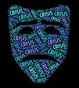Crisis Word Indicates Dire Straits And Calamity Stock Illustration
